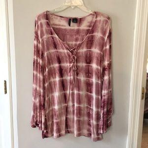 Tie dye pink blouse